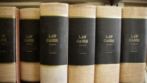 Law books and legal resources